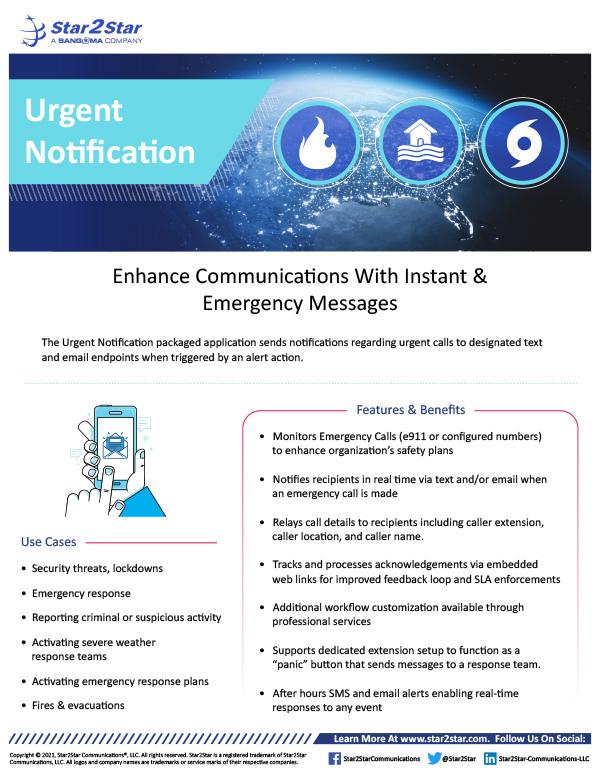 Urgent Notification